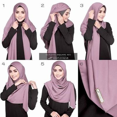 Layer Style for Square Hijab