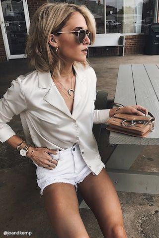 Notched Collar Top