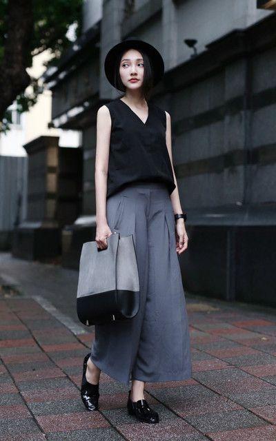 Celana Kulot + Sleeveless Shirt
