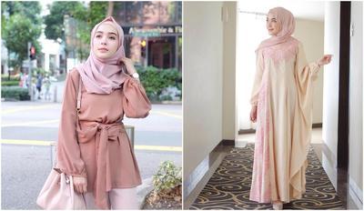 Tampil Cantik dan Kece dengan Padu Padan Outfit dan Hijab Warna Peach Ini Yuk Ladies