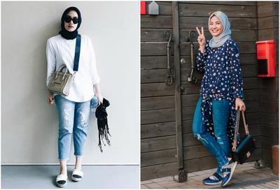 Ternyata Outfit Hijab Jeans dari Para Artis Indonesia Ini Lagi Hits Banget Lho Ladies