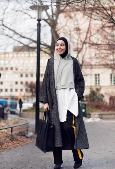 Gaya Hijab Hoodie Instan