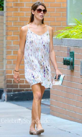 Ashley Greene: Slip Dress & Flat Shoes