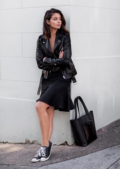 Jaket Kulit & Little Black Dress