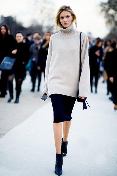 Pencil Skirt & Sweater