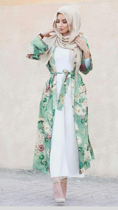 Jumpsuit and Belted Kimono