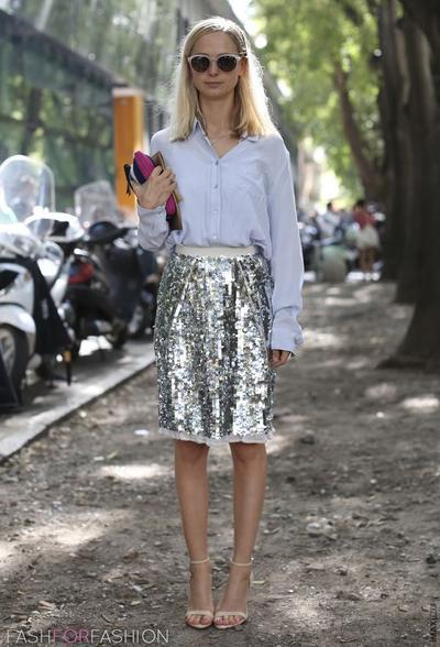 Sequin Span Skirt