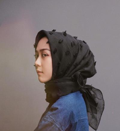2. Feather Hijab