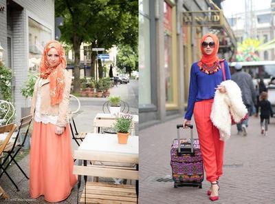 Hijabers, Ini Lho Cara Memadukan Hijab Orange Supaya Tampilan Kamu Enggak Kelihatan Norak
