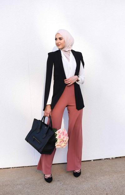 Cape Blazer + Pink Pants