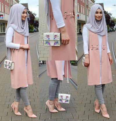 Inspirasi Padu Padan Vest Hijab