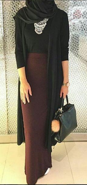 Padu Padan Rok Hijab Formal
