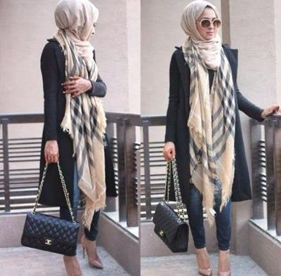 Blazer + Long Shawl