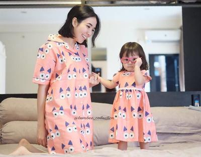 Collared Pajamas Dress