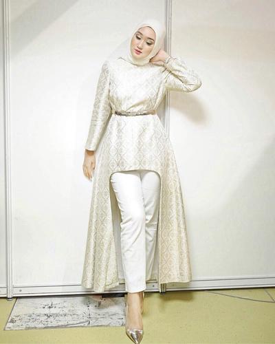 Style Fashion Hijab Pesta Dengan Celana