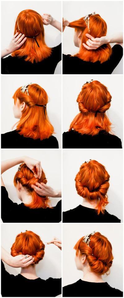Twist Up Do Hair