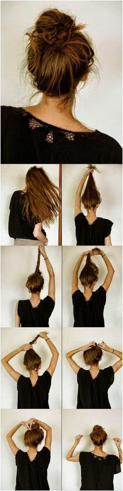 Messy Hair Bun!