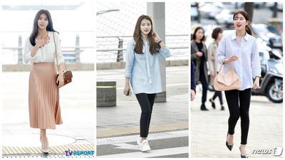 Tetap Stylish Meskipun Penerbangan Pagi, Gaya Fashion Airport Suzy Ini Bisa Kamu Tiru, Lho!