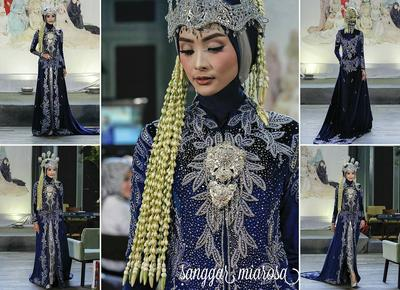 Inspirasi Gaun Pengantin Hijab Adat Sunda