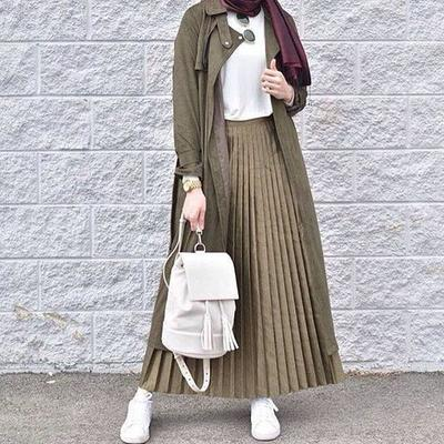 Pleated Skirt for Casual Day