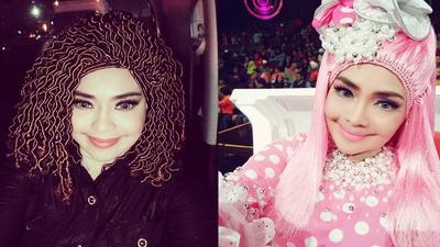 Sering Dikomentari, Begini Gaya Hijab Wig Ala Iyeth Bustami Saat Manggung