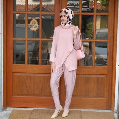 Pastel Pattern Hijab + Mini Sling Bag