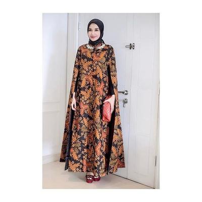 Batik Cape Dress