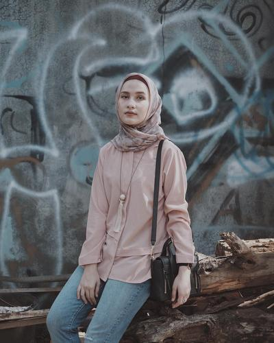 Hijab Voal dan Kemeja