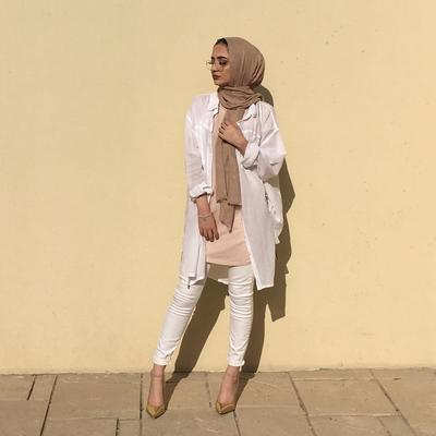 All White Outfite