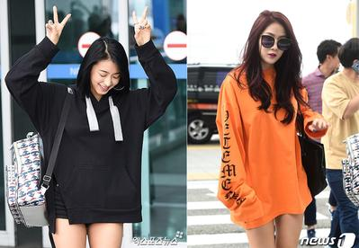 Tampil Keren Saat di Bandara, Contek Style Jaket Hoodie dalam Airport Fashion Selebriti Korea Ini!