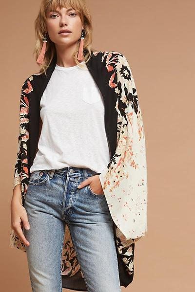 Assymetrical Floral Outer