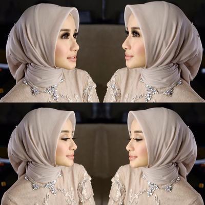 Tampil Simpel Saat Kondangan dengan Gaya Fashion Hijab Pesta Laudya Cynthia Bella