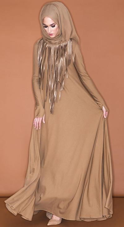 Tassel Dress dan Hijab