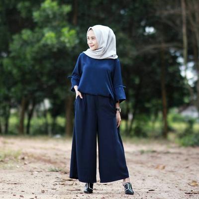 Gimana model celana kulot hijabers yang cocok untuk orang gemuk?