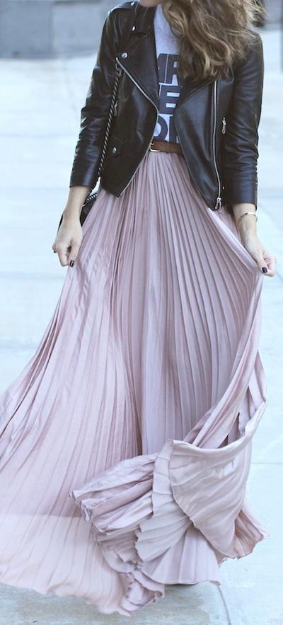 Pleated Flowy Skirt