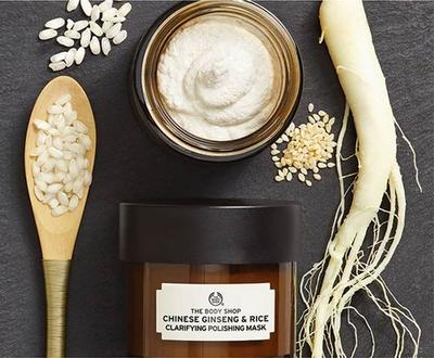 The Body Shop Chinese Ginseng & Rice Mask Clarifying Polishing Mask
