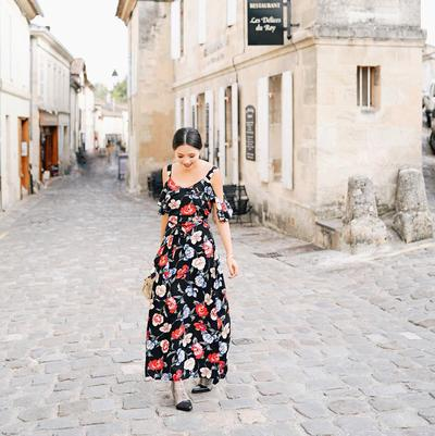 Colorful Print Long Dress
