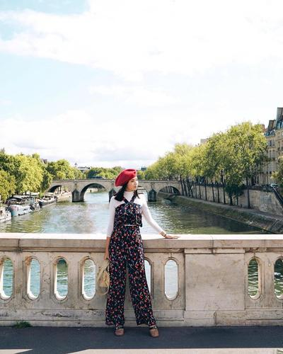 Long Jumpsuit with French Beret