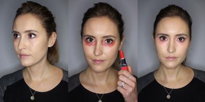 Benarkah Lipstik Merah Bisa Menyamarkan Mata Panda?