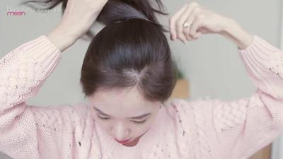 Step 2: Ikat Rambut dengan Karet Jepang