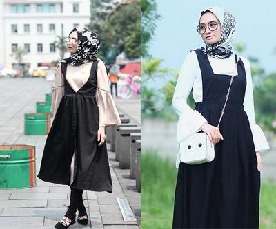 Paduan Blouse dengan Dress