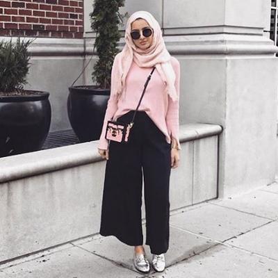 Tips Padu Padan Celana Kulot Hijab Untuk Tubuh Gemuk