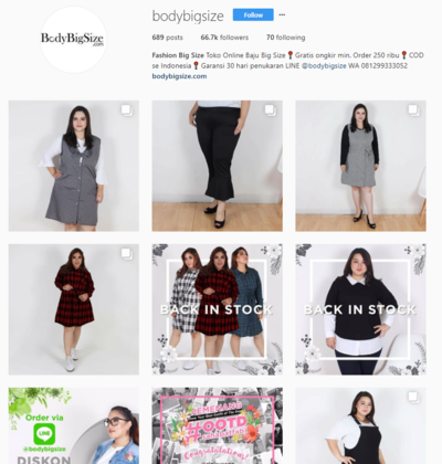 Cari Baju Plus Size di Bawah 200 Ribu? Buruan Cek 3 Online Shop Instagram Ini!