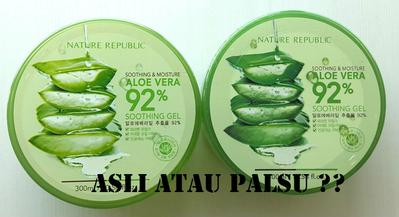 Biar Gak Salah Beli, Ini Dia Perbedaan Nature Republic Aloe Vera Gel yang Asli dan Palsu!