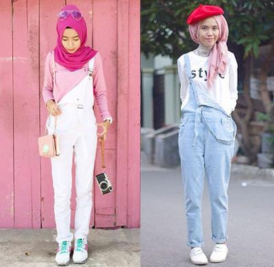 Hijabers, Begini Tips Pakai Overall Agar Tubuh Tidak Terlihat Pendek!