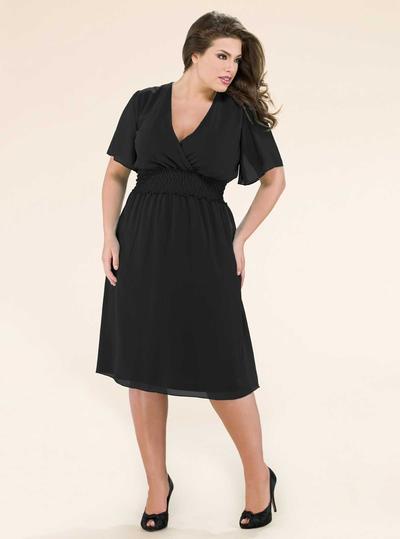 Dress Model V Neck