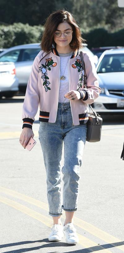 1. Sweet Embroided Bomber Jacket