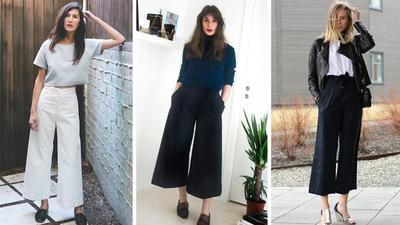 Celana Kulot atau Wide Leg Pants