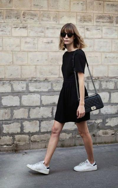 Sneakers with Dress? Why Not!