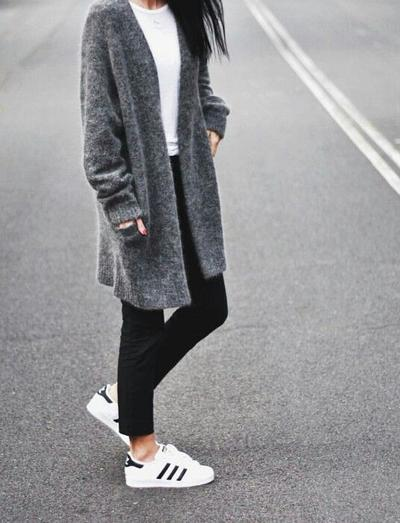Oversized Outer with Sneakers